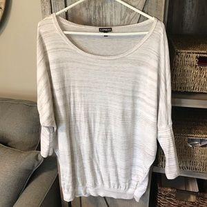 Express Cream & Beige Dolman Style Light Sweater